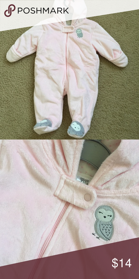 3 Month snow outfit - soft Pink 3 Month snow outfit. No stains or rips. I think my daughter wore it once. just one you One Pieces Bodysuits