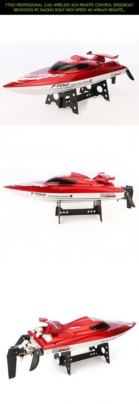 FT012 Professional 2.4G Wireless 4CH Remote Control Speedboat Brushless RC Racing Boat High Speed 40-45KM//H Remote Control Model Red