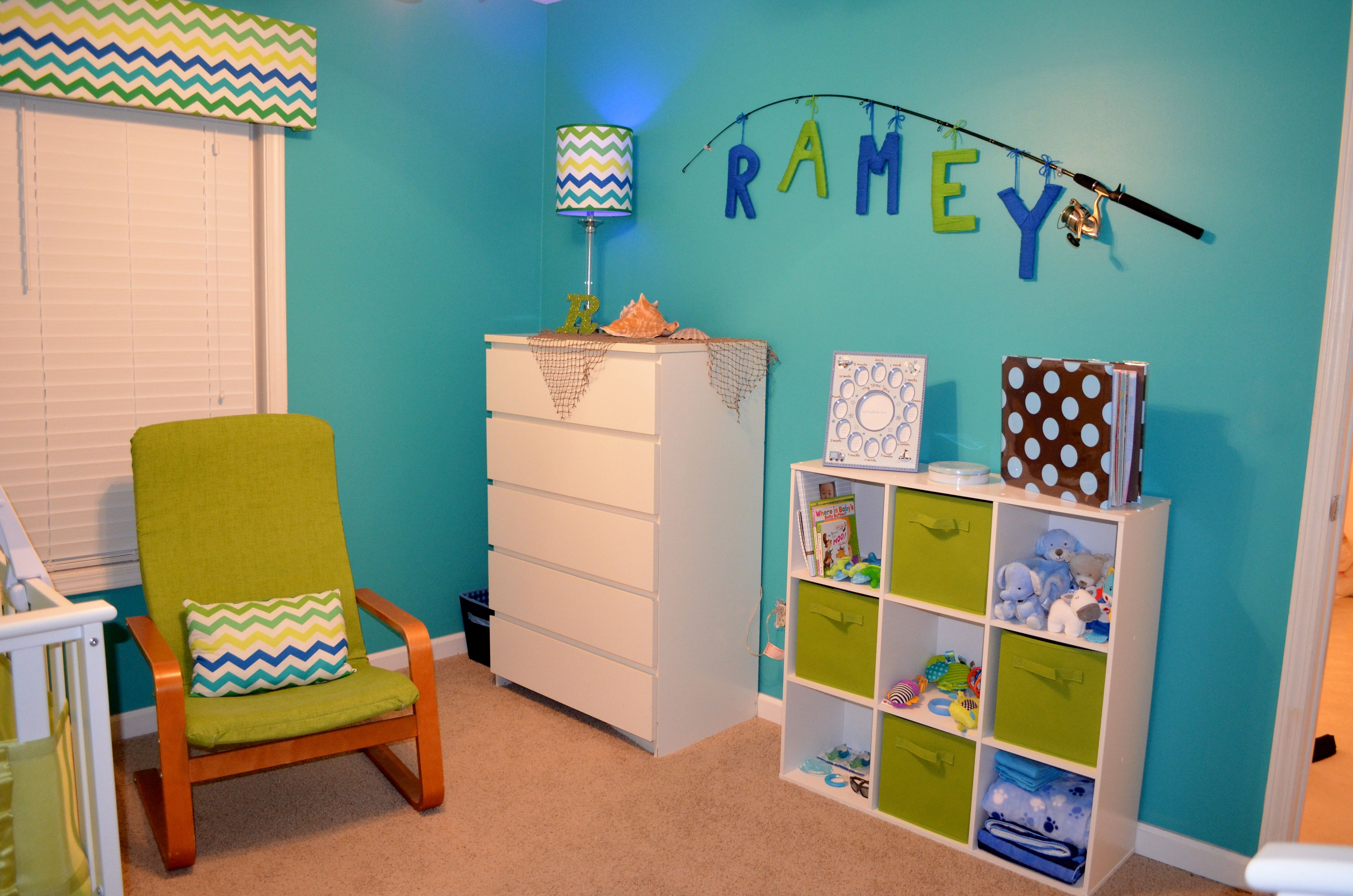 Baby nursery, fish nursery, baby boy nursery (With images