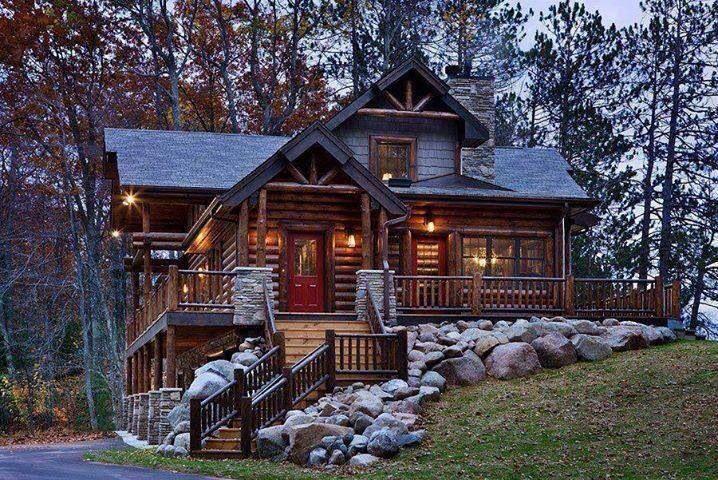 Lovely Log Cabin Log Homes Exterior Log Homes Log Cabin Homes