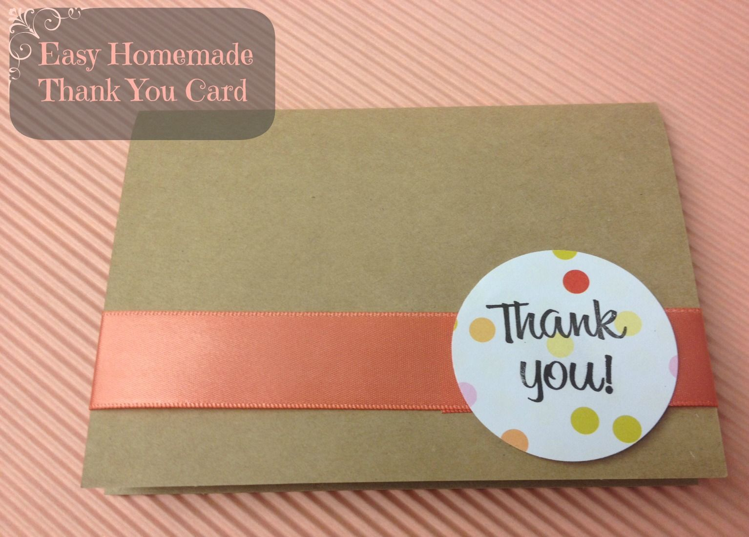 cute and easy kraft thank you card tutorial diy cards pinterest