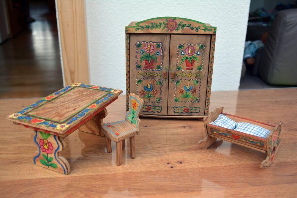 Antike Möbel für die Puppenstube 40-50-er Folk/ Bauernmöbel for - küchenmöbel gebraucht kaufen