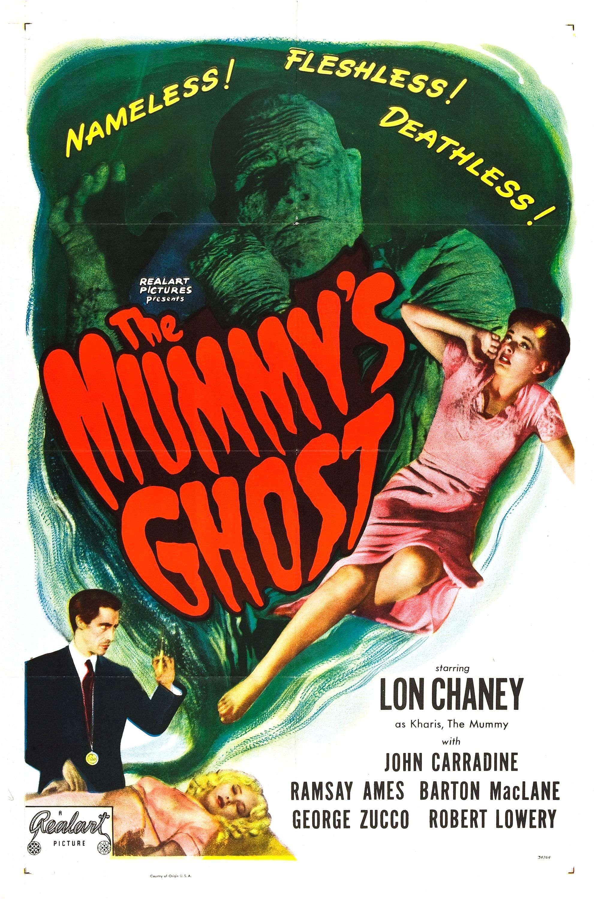 The Mummy S Ghost 1944 Classic Horror Movies Posters Horror Movie Posters Classic Monster Movies
