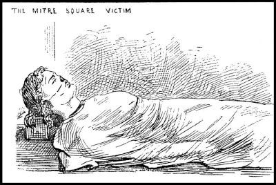 Illustration of Jack the Ripper's 4th victim (murdered on