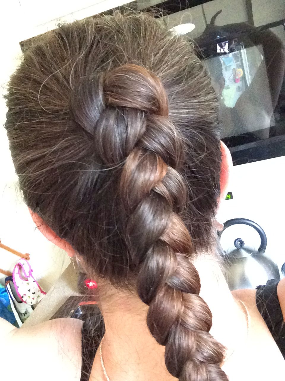 Ponytail without hair band - Ponytail Braid Without The Hair Band Just Pull Back And Tightly Braid