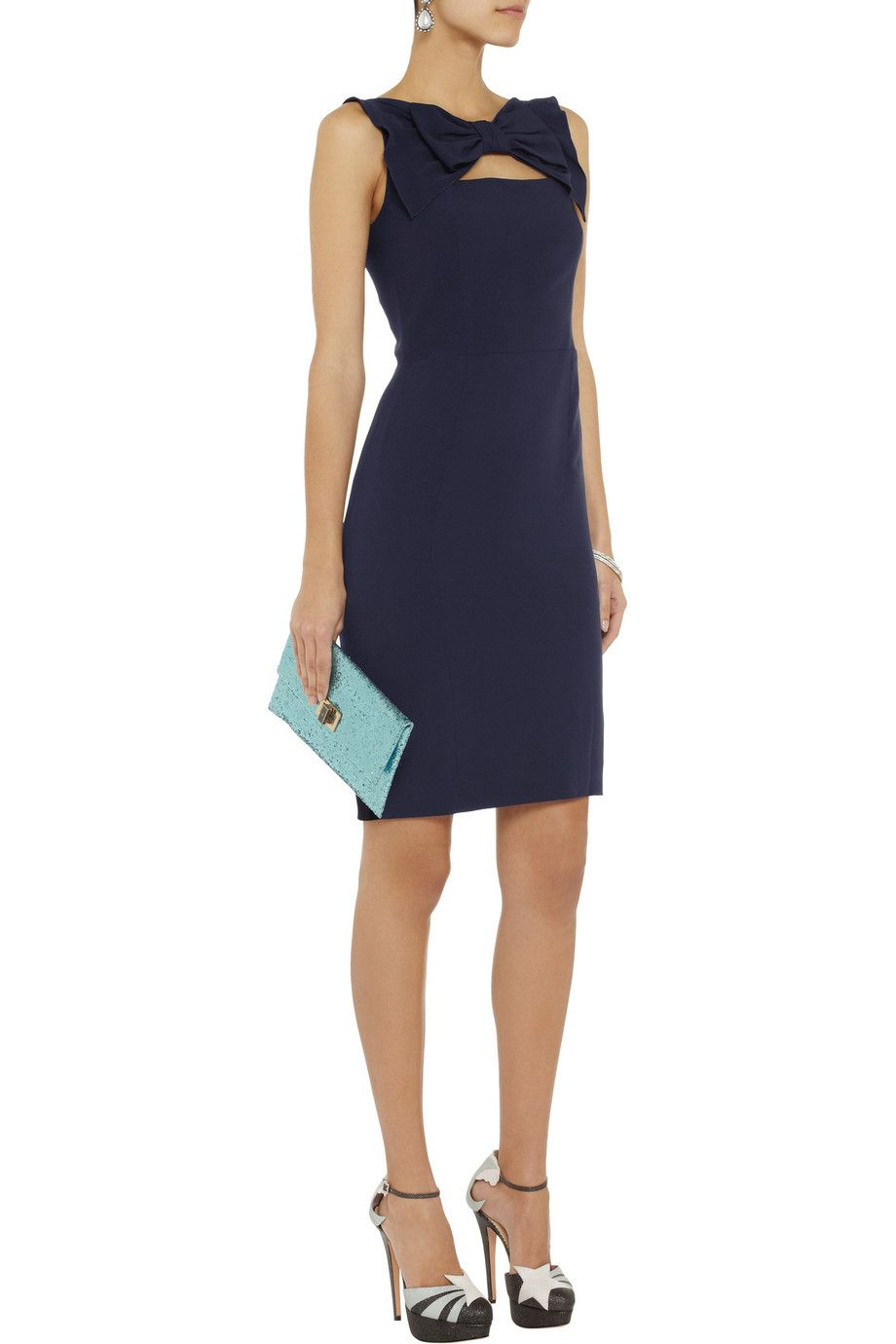 Moschino Cheap and Chic Bow-front crepe dress - 50% Off Now at THE OUTNET