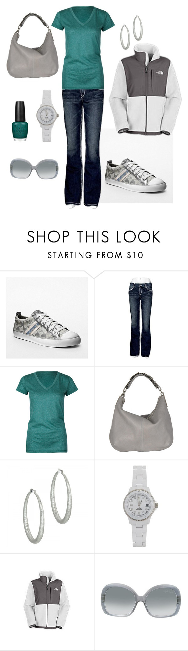 """Untitled #48"" by bbs25 ❤ liked on Polyvore featuring moda, Coach, Silver Jeans Co., Full Tilt, Alexander McQueen, Kenneth Jay Lane, Toy Watch, The North Face, Roberto Cavalli e OPI"