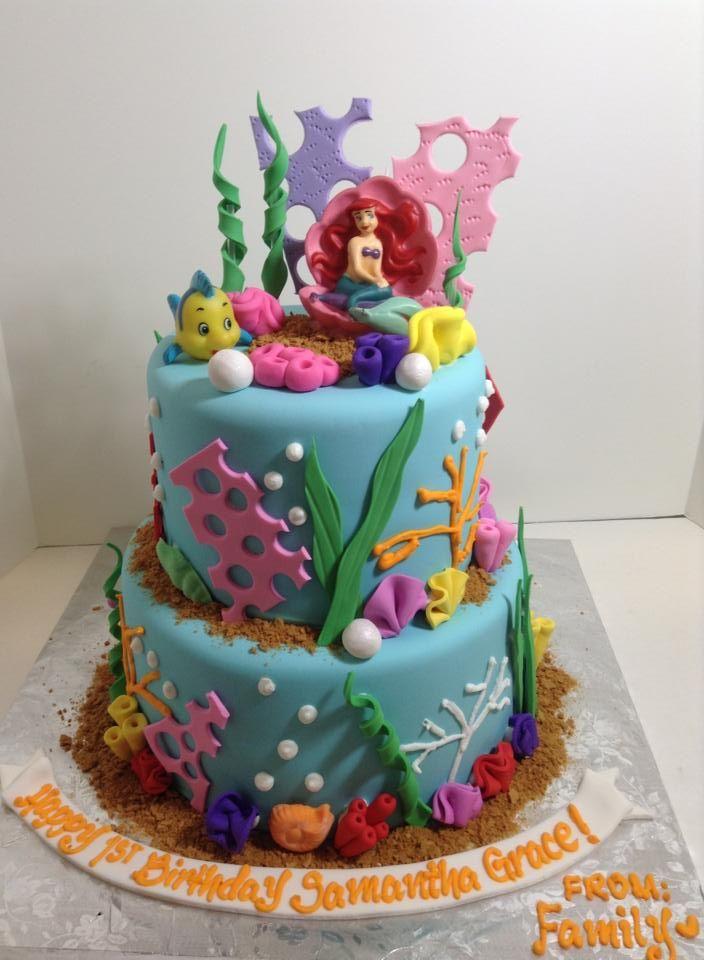 Little Mermaid birthday cake Suganomics Cake Studio Guam