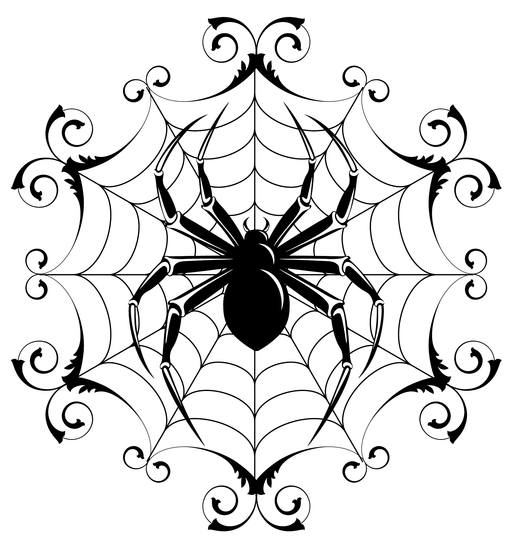 Spider Drawing Halloween Clipart Best Clipart Best Black And White Drawing Drawings Halloween Drawings