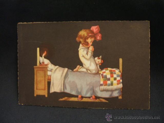 POSTAL ANTIGUA - PRINTED IN ITALY - FECHADA EN 1929 - (Postales - Niños)