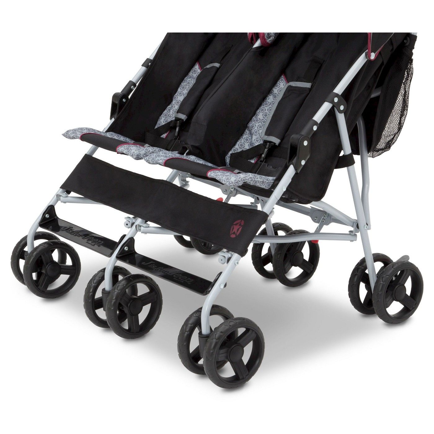 J is for Jeep Scout Double Stroller Lunar Burgundy