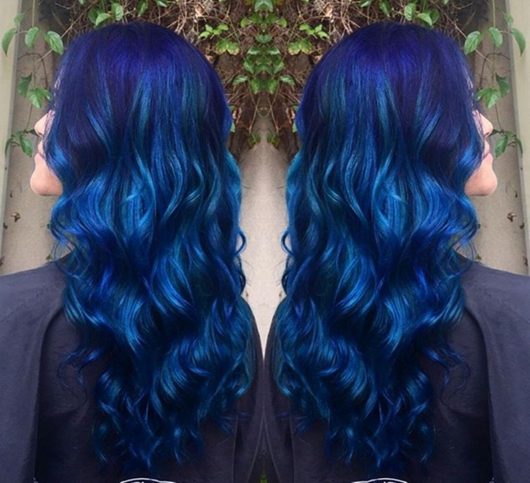 best sapphire blue hair color ideas for women look more stylish