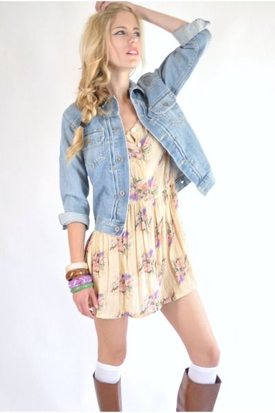 Denim vest and dress – Modern fashion jacket photo blog