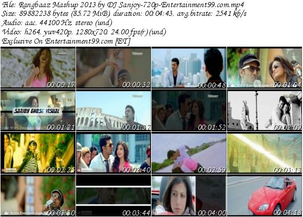 Rangbaaz Mashup 2013 by DJ Sanjoy 720p Entertain