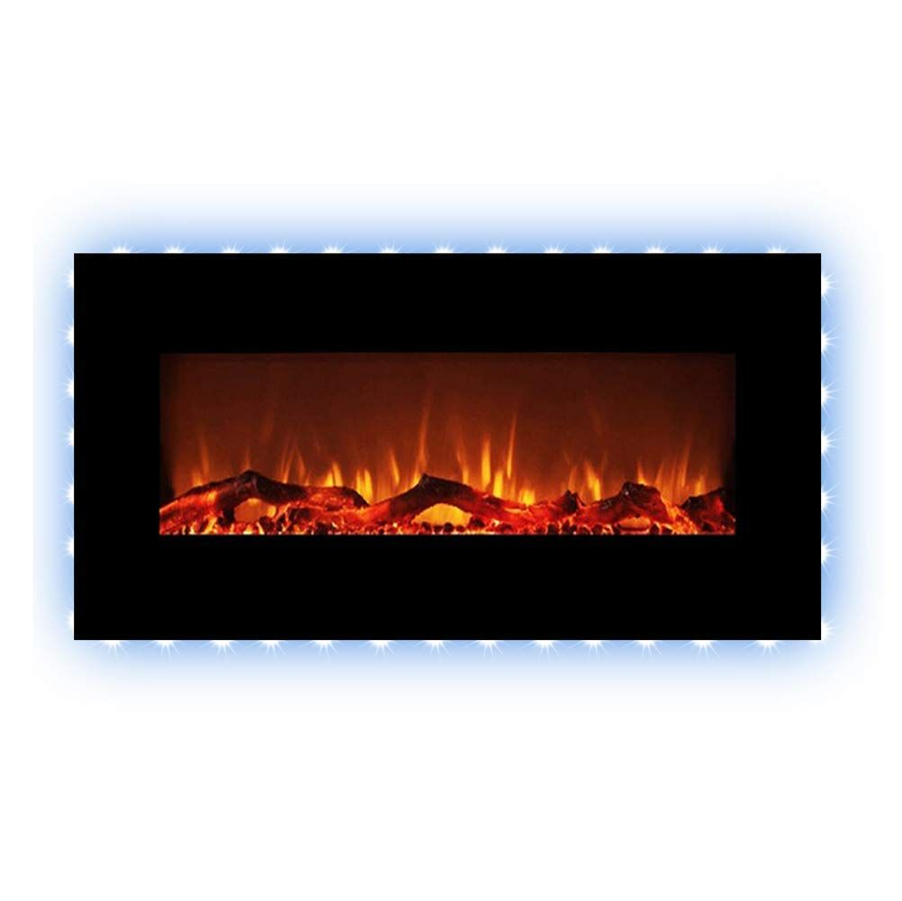 Paramount Premium 42 In Wall Mount Electric Fireplace In Black