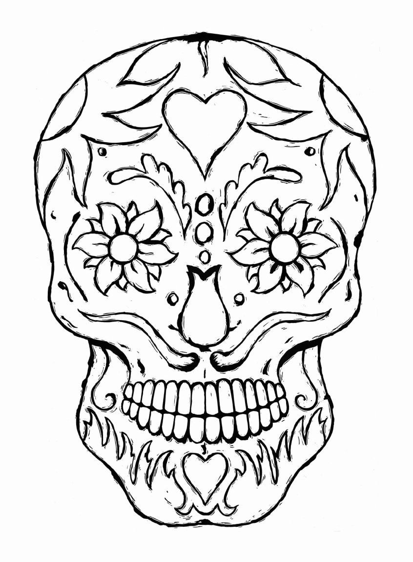 Scary Skull Coloring Pages Elegant Coloring Full Size Coloring Sheets Cooloring Book Free For Stensil Gambar Warna