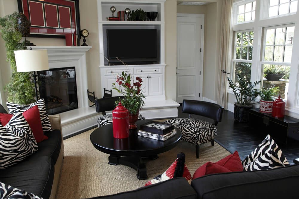 57 Beautiful Family Room Interiors Love Home Designs Living Room Red Turquoise Living Room Decor Black And White Living Room