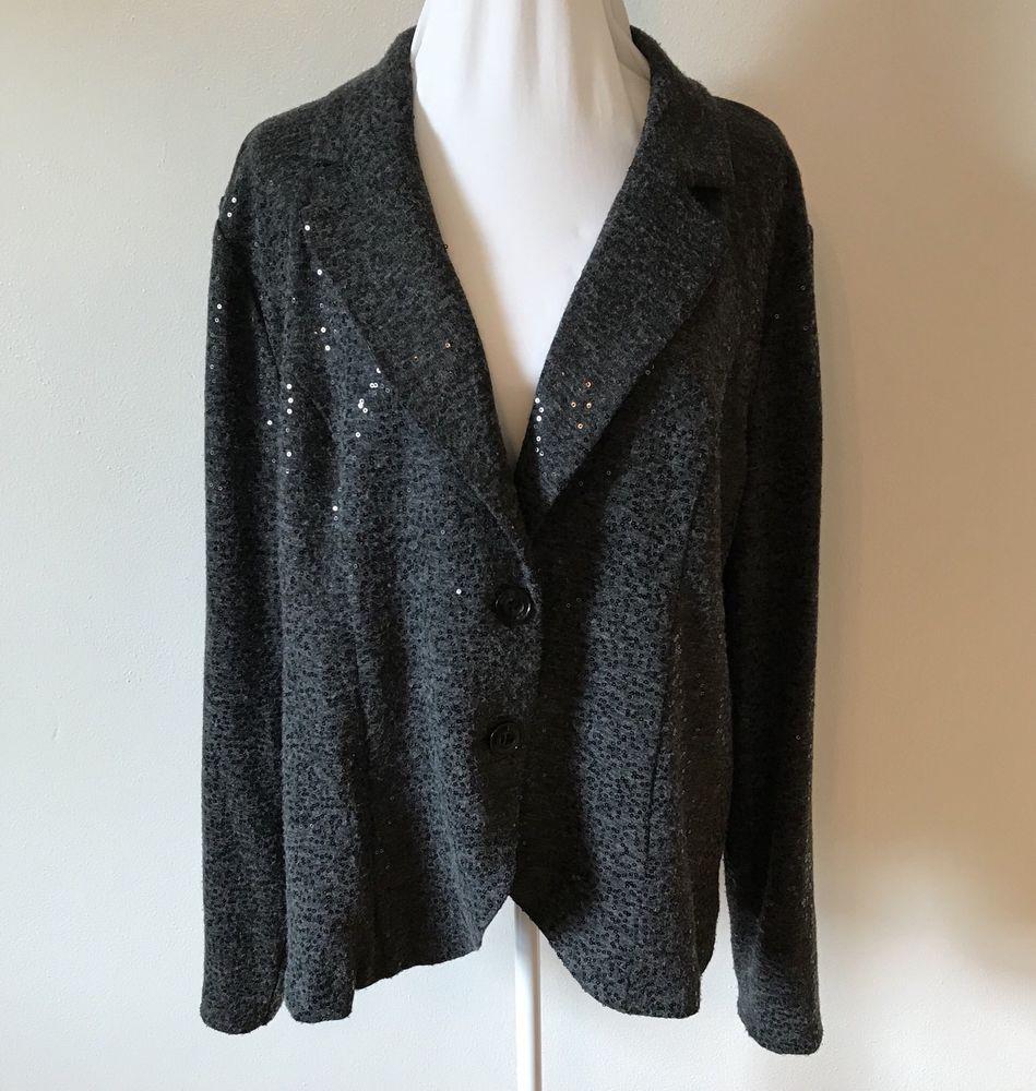 30915d598dd TORRID Plus Size 3 3X Black Beaded Blazer Jacket Lined 2-Button Coat  Torrid   SuitJacketBlazer