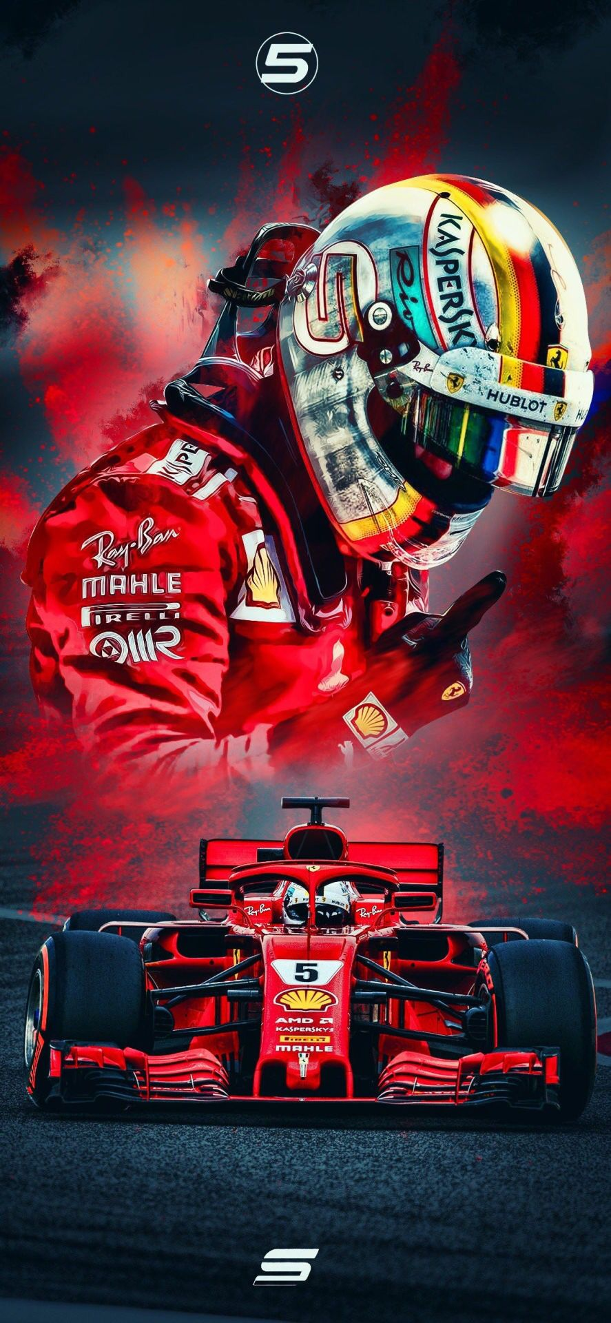 Sebastian Vettel wallpaper by SeviGraphics Formula 1 car