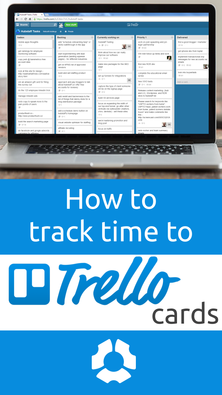 Trello time tracking desktop app  The Hubstaff desktop application