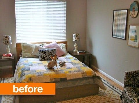 Before After 3 Easy Inexpensive Ideas For Making Rooms Look Larger