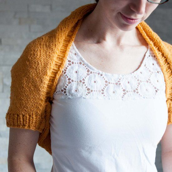 Create A Cozy Light Weight Shrug Perfect For Those Brisk Spring