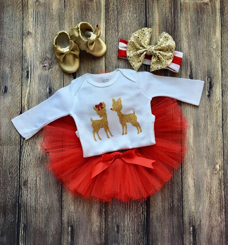 30d7427f405 Traje de Navidad recién nacido bebé niña Navidad traje traje ...