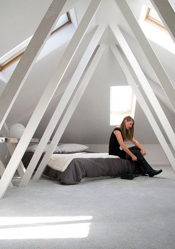 50 Minimalist Bedroom Ideas That Blend Aesthetics With Practicality Attic Renovation Attic House Attic Design