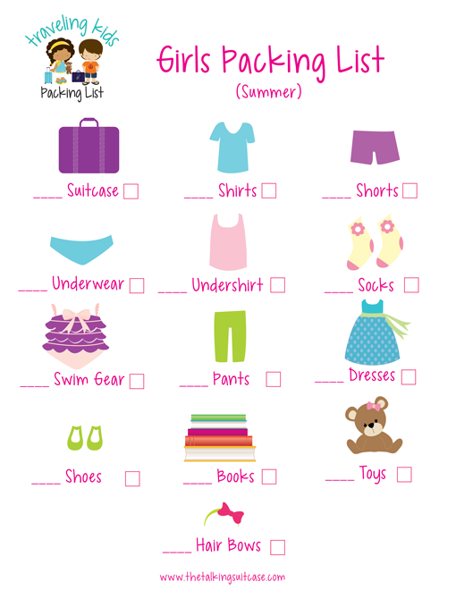 Such A Great Way To Get The Kids Involved With Your Travel Plans Use This Girls Packing List Let Feel Like They Helped Ready For Next