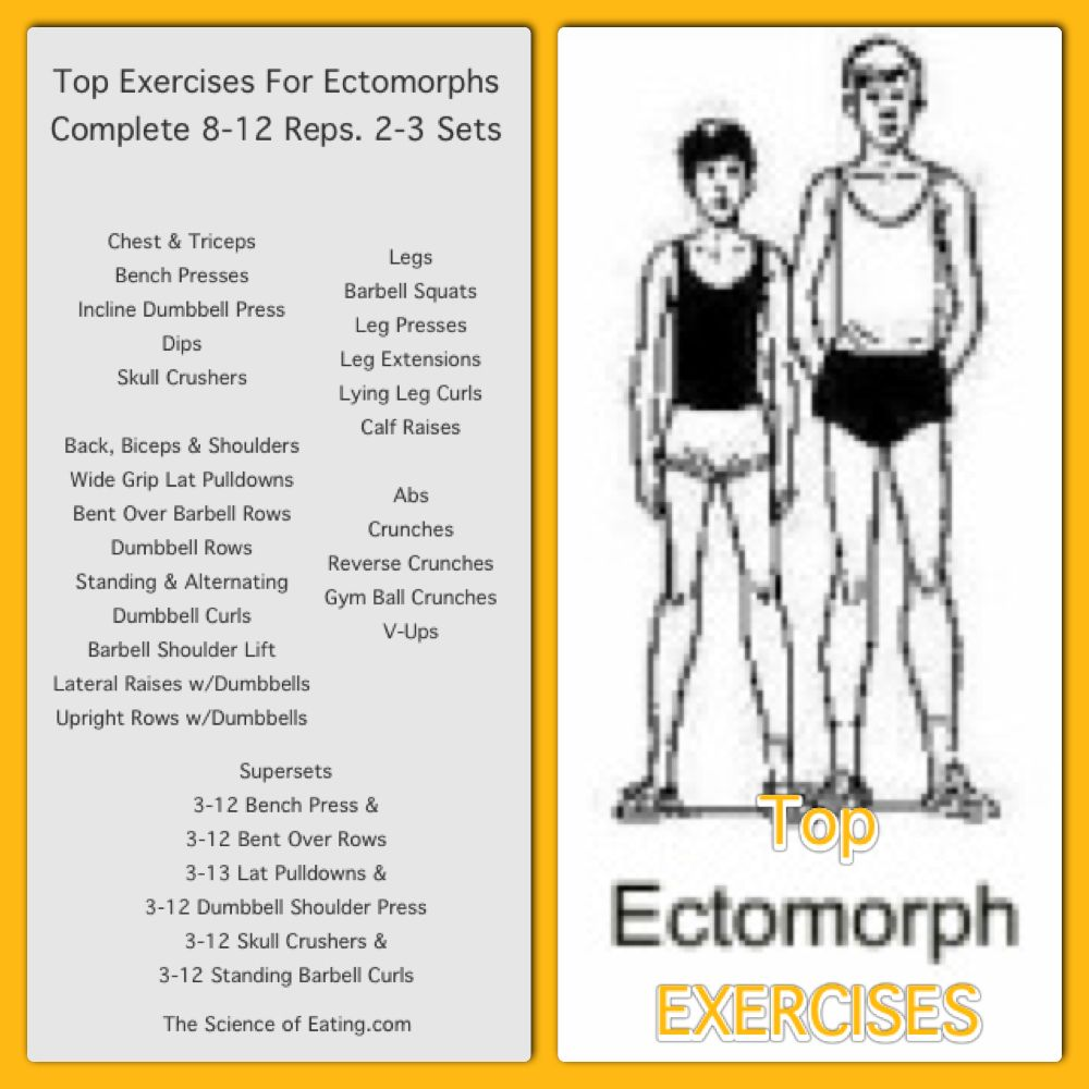 Workout for Ectomorphs | healthy choices | Ectomorph workout