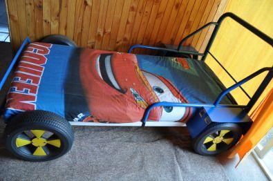 Blue metal frame car bed for sale, including base board ...