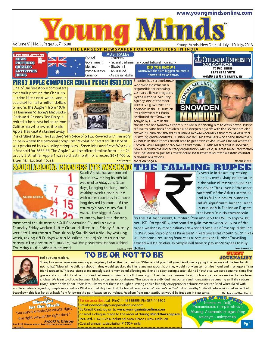 Young Minds  Magazine - Buy, Subscribe, Download and Read Young Minds on your iPad, iPhone, iPod Touch, Android and on the web only through Magzter