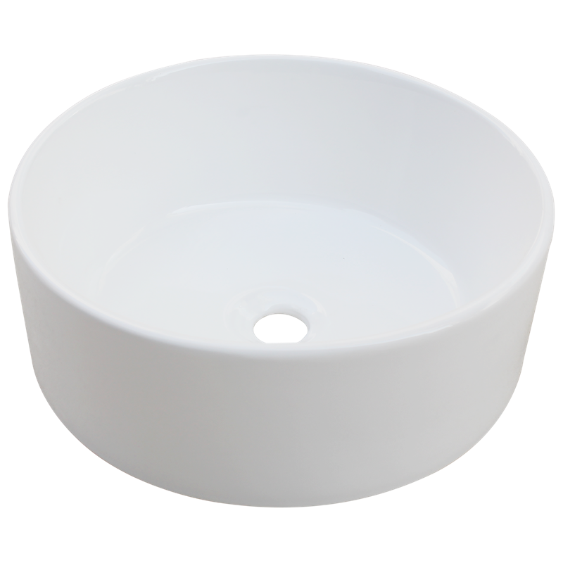 Mondella White Round Rumba Vitreous China Basin Bathroom
