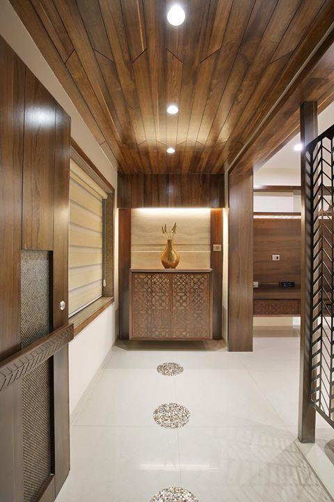 Foyer False Ceiling : Rajnysh rami vadodara gujarat india door