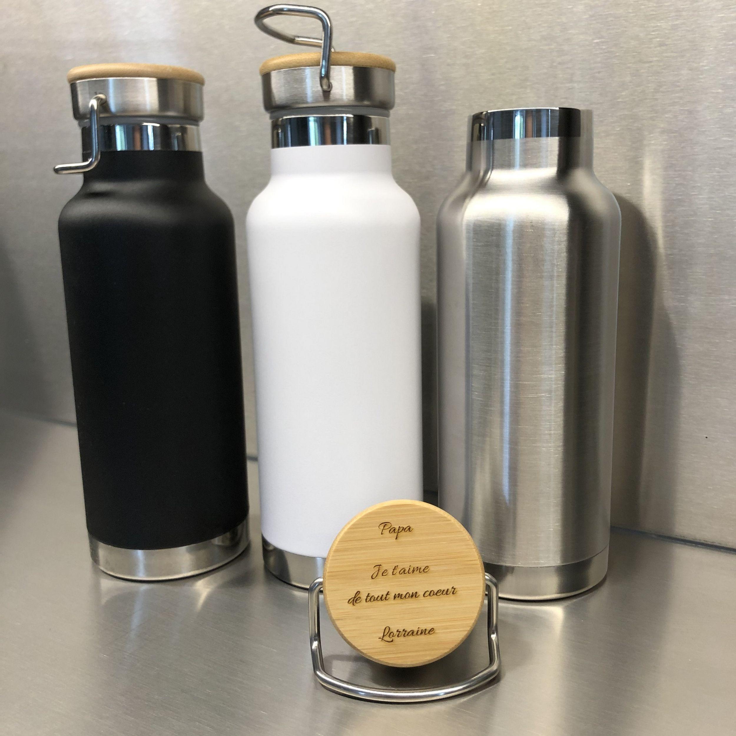 Voyage Bouteilles-Personnalisé bouteilles d/'eau-Custom-Laser Gravé-métal