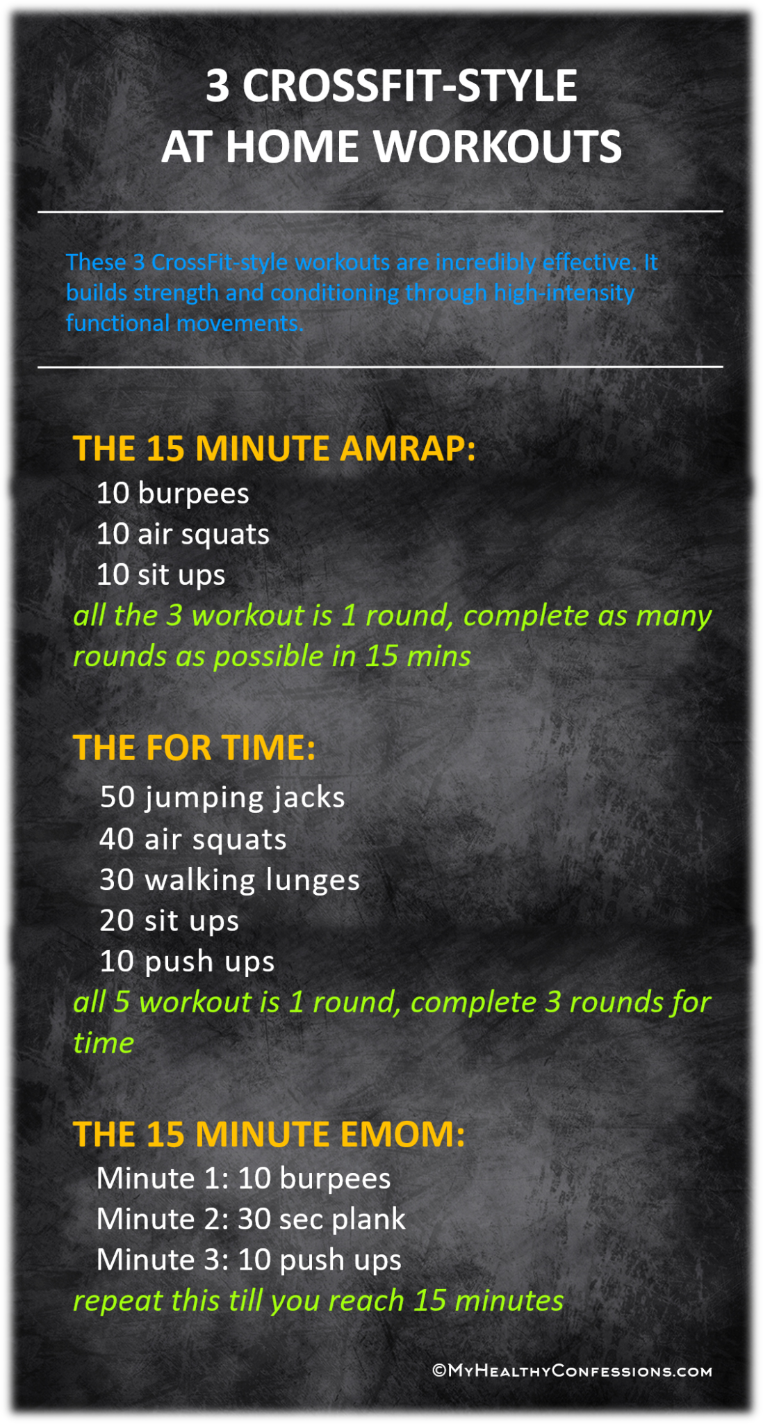 CROSSFIT-STYLE WORKOUTS: AMRAP, FOR TIME AND EMOM - myhealthyconfessions
