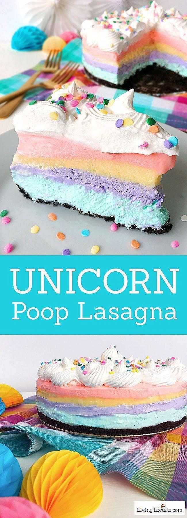Photo of Unicorn Rainbow Dessert Lasagna