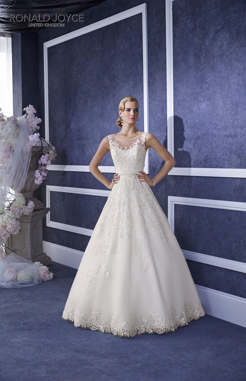 69064 \'ENYA\' Ronald Joyce #weddingdress #illusionneckline ...