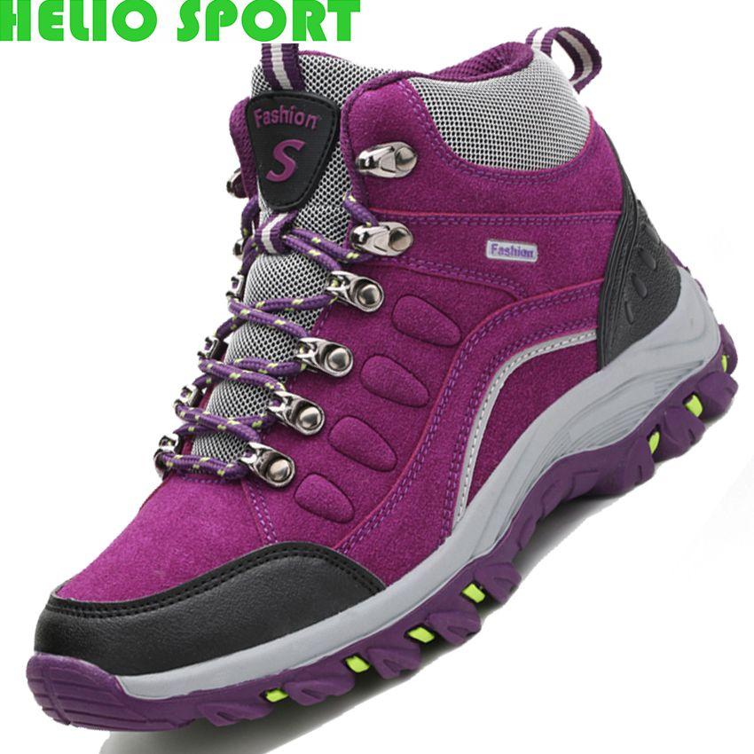 f4357016ba9 Cheap Invierno en forma de bota zapatos de senderismo mujeres exterior  senderismo zapatos impermeables zapatos zapatillas de montaña trekking  zapatos de ...
