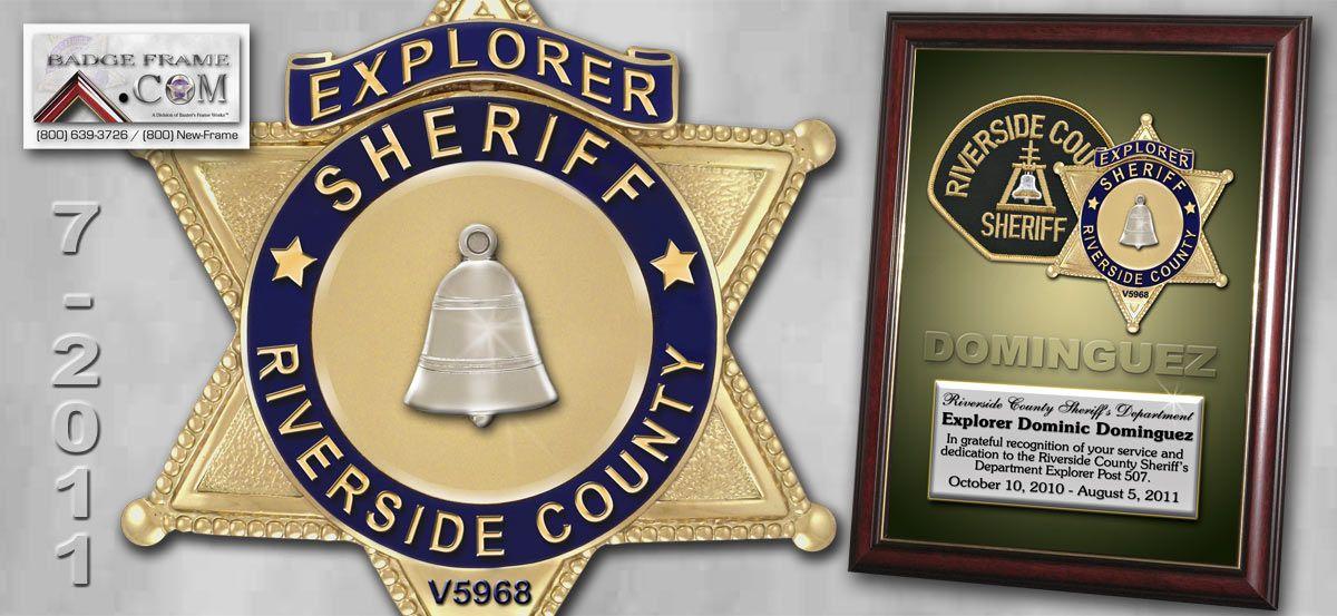 Riverside County Sheriff Dominic Dominguez Make Money From Pinterest Money Template Frame