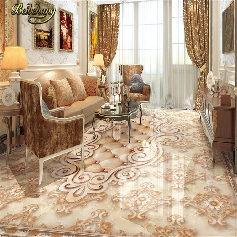 Beibehang Benutzerdefinierte Marmor Papel De Parede 3d Boden Fliesen Wand Papier Malerei Wohnzimmer Bad Selbstk Floor Tile Design Marble Tile Floor Tile Design