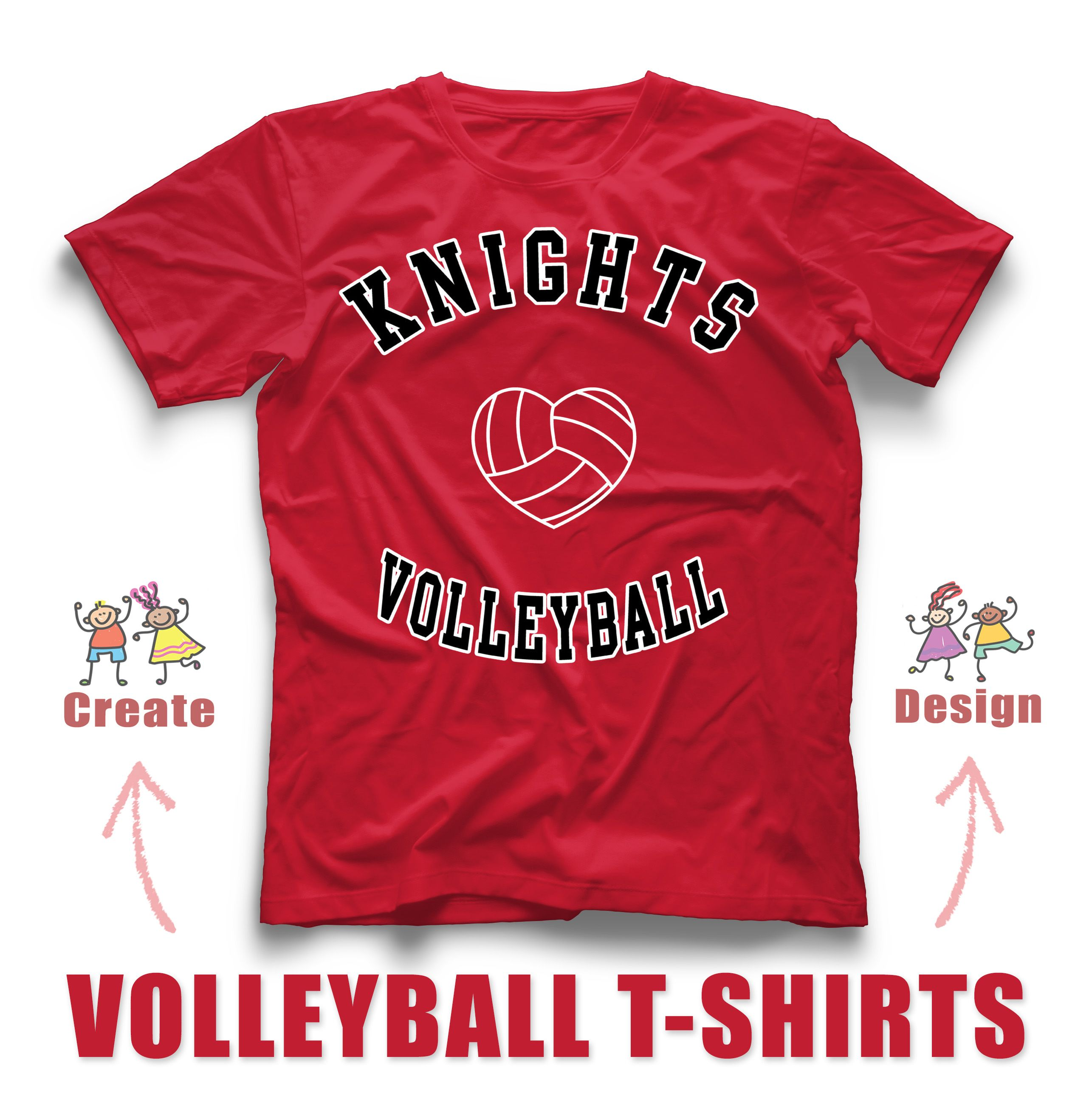 Love To Play Volleyball Create And Design Volleyball Custom T Shirts For Your Team Rushorderte In 2020 Custom Softball Shirts T Shirt Design Template Custom Softball