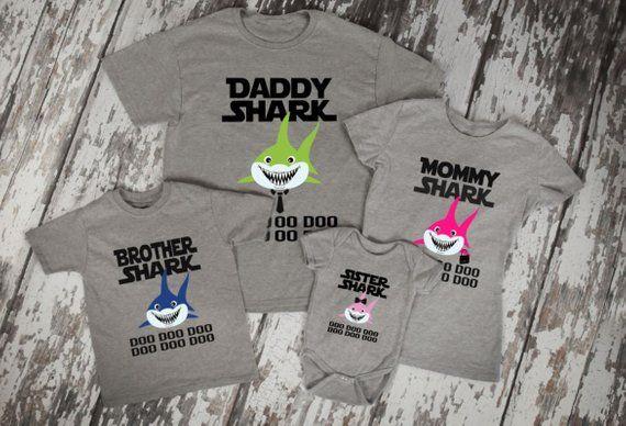 b346aece Mommy Shark Doo Doo Doo Shirt / Matching Family Shirts / Baby Shark / Daddy  Shark / Shark Song Shirt /Brother Shirt/ Sister Shirt