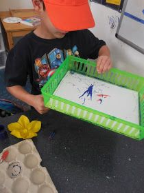 Little Hands, Big Work: Magnet and Marble paintings!