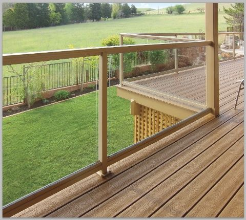 Glass Panel Deck Railing Price Glass Railing System Is A