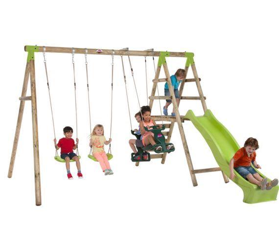 Buy Plum Silverback Wooden Garden Swing Set At Argoscouk Visit