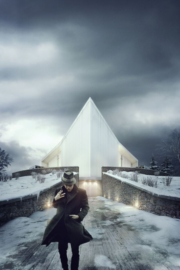 CGarchitect - Professional 3D Architectural Visualization User Community   New Rorvik Church competition