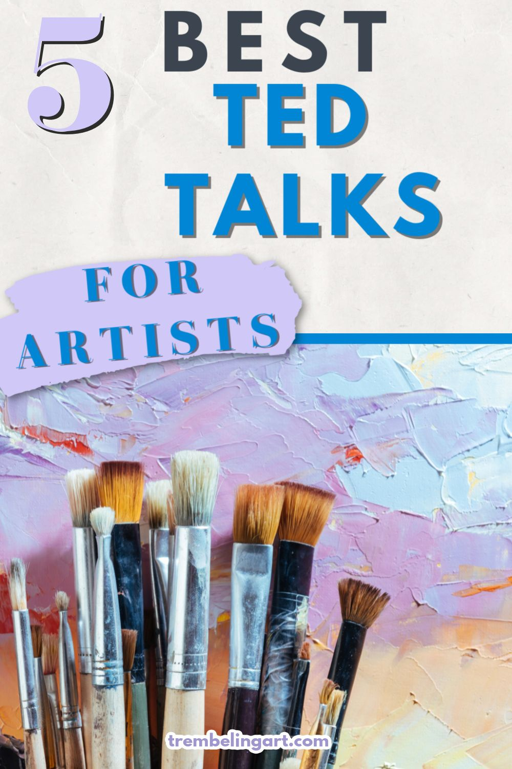 Many artists like to listen to books,pod casts or music as they work. Listening to Ted Talks by artists is also another great way to stay informed and motivated. Click to find some great Ted Talks by artists. #TedTalks #artistinspiration #trembelingart