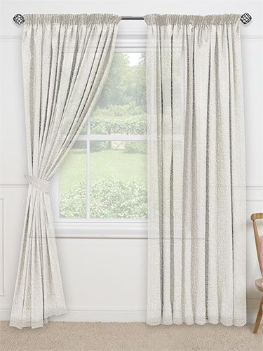 Woven Voile Calico Curtains From Curtains 2go