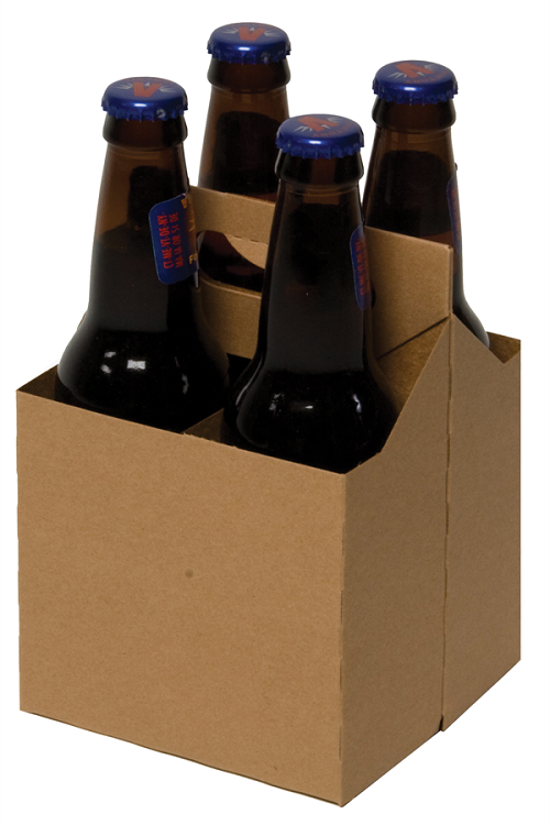 These kraft 4 pack cardboard carriers will fit any 12 oz for Six pack holder template
